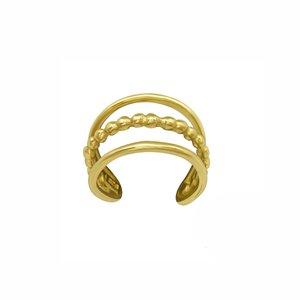 Oh So HIP Triple ear cuff gold plated
