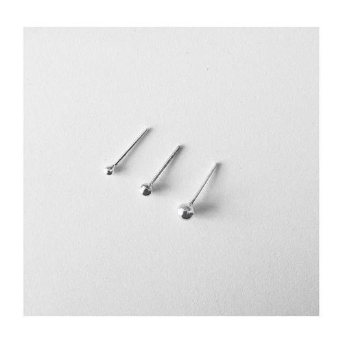 Oh So HIP Ball studs 925 zilver 2 mm