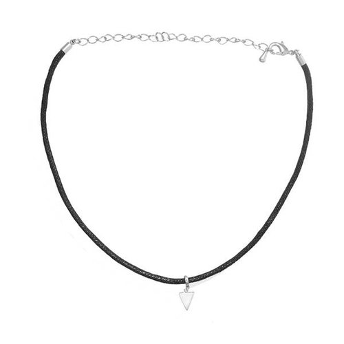 Oh So HIP Choker Triangle zilverkleurig