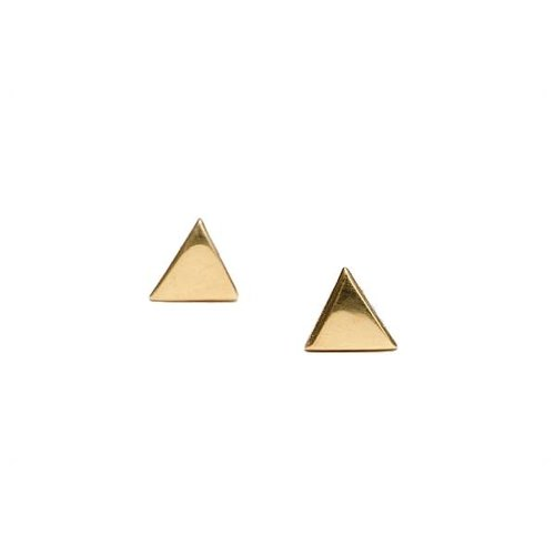 Oh So HIP Triangle studs goud