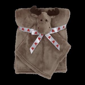 Embroider Buddy Moose Blankey Buddy Set