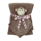 Embroider Buddy Monkey Blanket Set