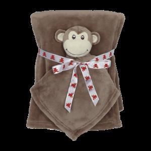 Embroider Buddy Monkey Blanket Set