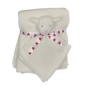 Embroider Buddy Lamb Blankey Buddy Set