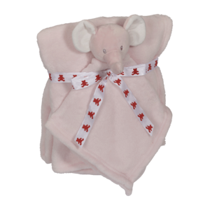 Embroider Buddy Elephant Blanket Set, Pink