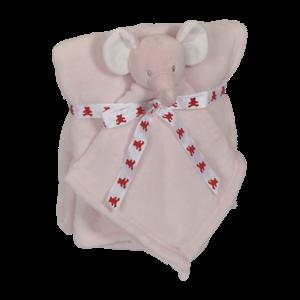Embroider Buddy Elephant Blankey Buddy Set, Pink
