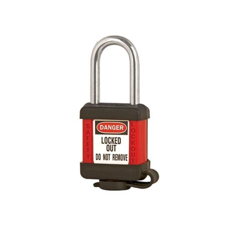 Zenex veiligheidshangslot rood 410RED - 410KARED