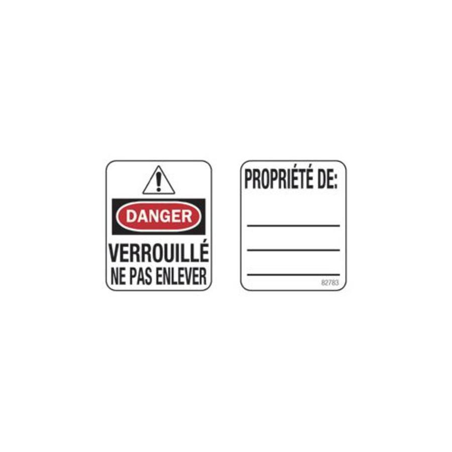 Padlock labels (50 pcs)