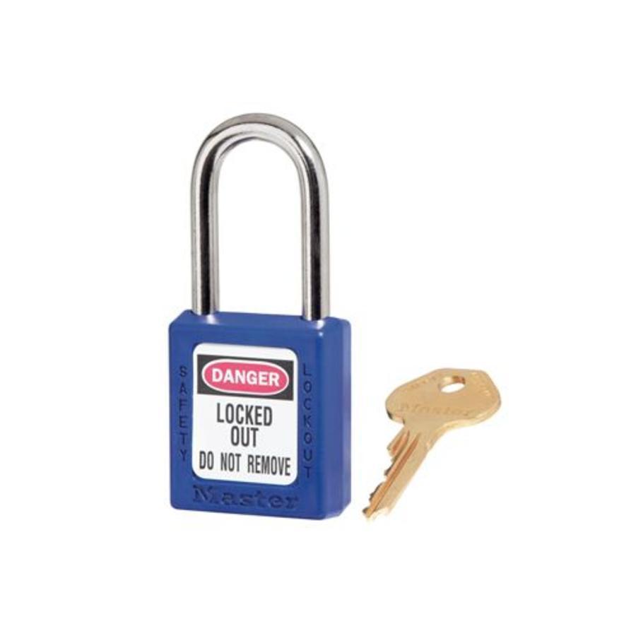Zenex Sicherheits-vorhängeschloss blau 410BLU, 410KABLU