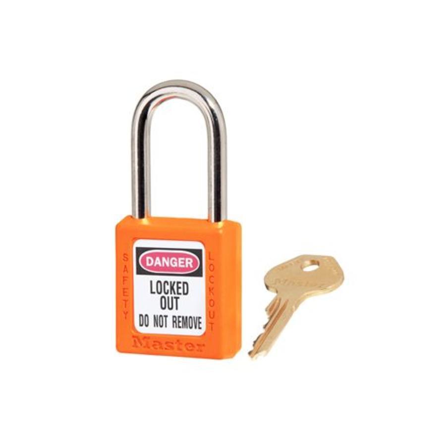 Zenex veiligheidshangslot oranje 410ORJ, 410KAORJ