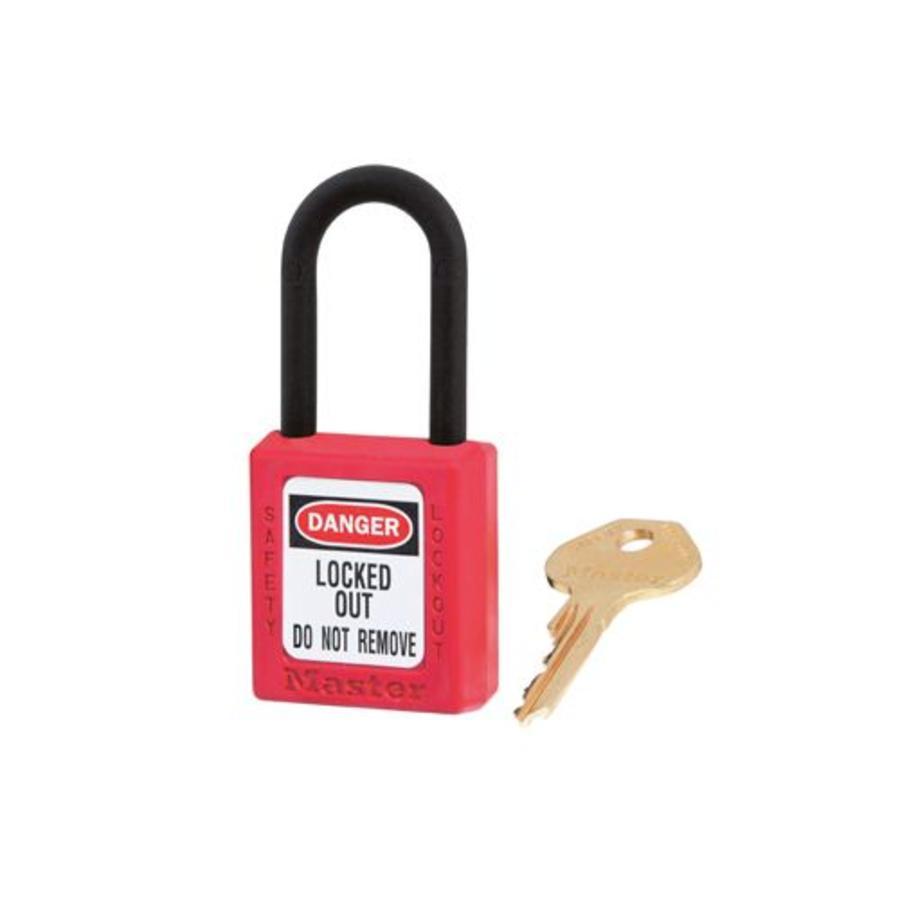 Zenex Sicherheits-vorhängeschloss rot 406RED, 406KARED