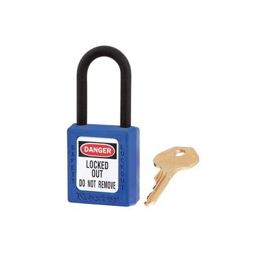 Zenex Sicherheits-vorhängeschloss blau 406BLU
