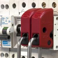 Brady Nylon safety padlock white 813641