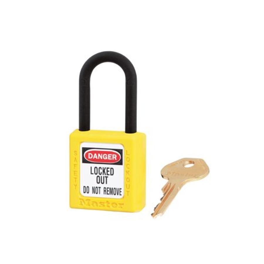 Zenex veiligheidshangslot geel 406YLW, 406KAYLW