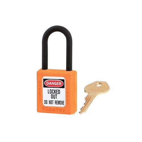 Zenex Sicherheits-vorhängeschloss orange 406ORJ