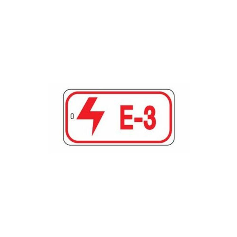 Identification tags electrical lock-out points