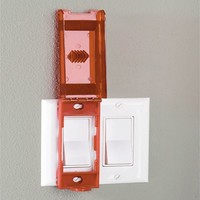 Wall switch lock-out 496BD in blister packaging