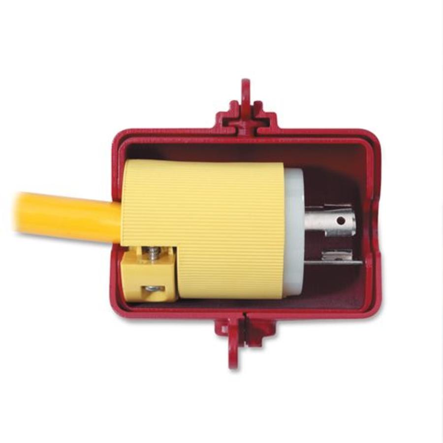 Lock-out device for plugs 487D in blister packaging