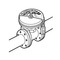 Gate valve lock-out devices 480D in blister packaging.
