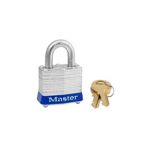 Laminated steel padlock blue 3BLU