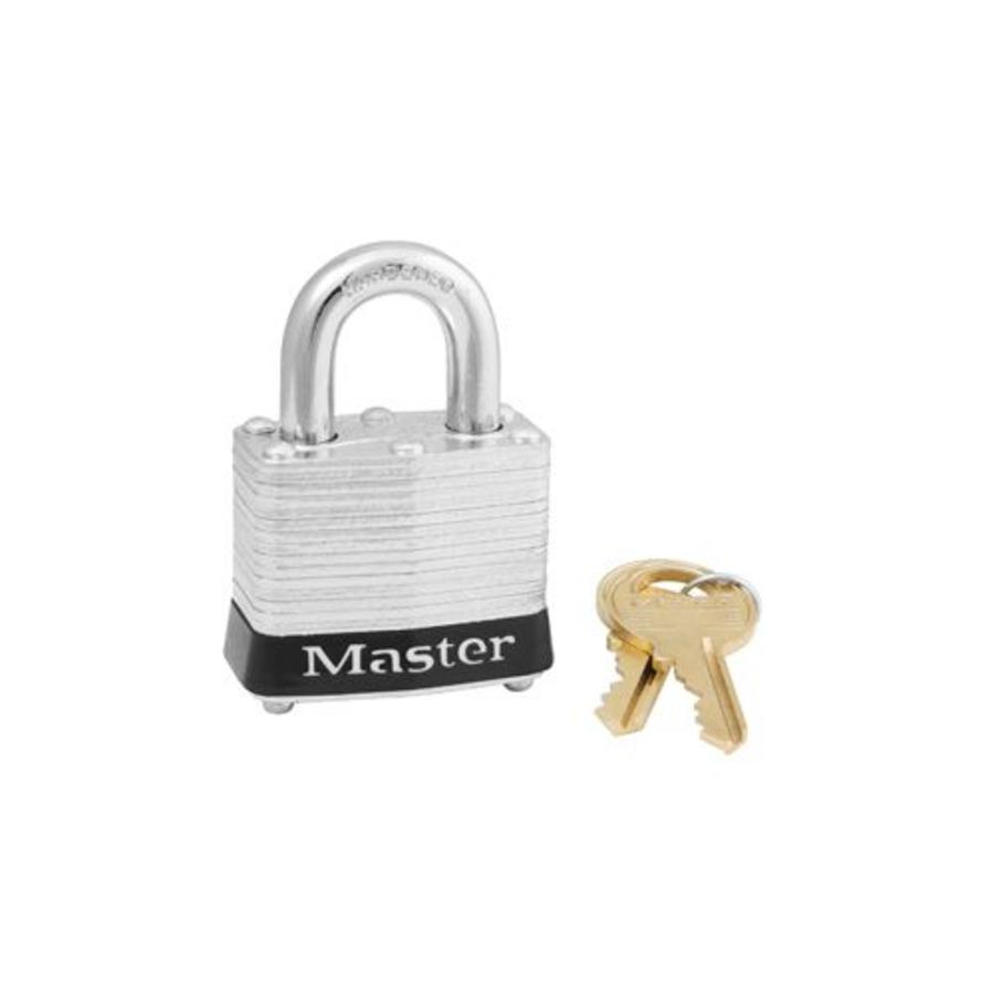 Laminated steel padlock black 3BLK