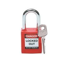 Nylon safety padlock red 051339