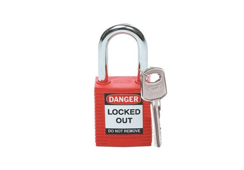 Nylon safety padlock red 051339