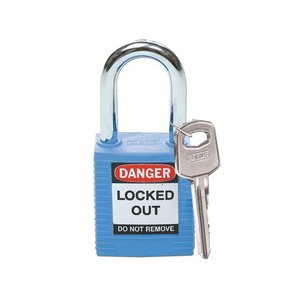 Brady Nylon Sicherheits-vorhängeschloss blau 051344