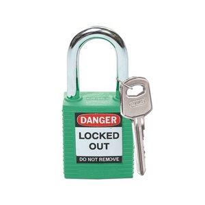 Brady Nylon Sicherheits-vorhängeschloss grün 051345