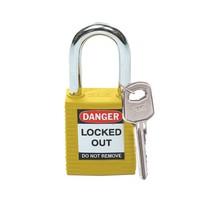 Nylon Sicherheits-vorhängeschloss gelb 051346