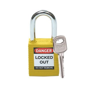 Brady Nylon safety padlock yellow 051346