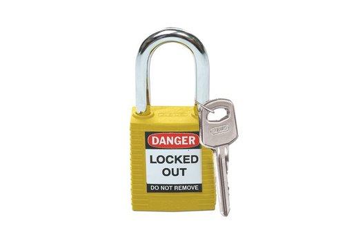 Nylon veiligheidshangslot geel 051346