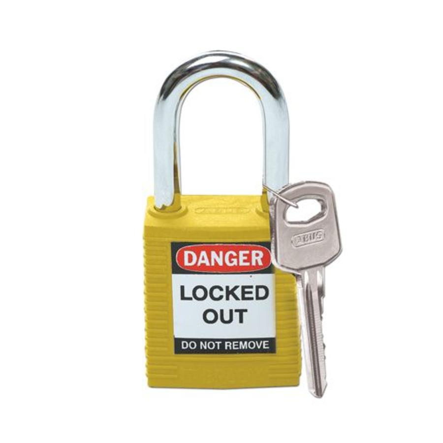 Nylon safety padlock yellow 051346