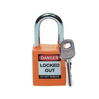 Nylon Sicherheits-vorhängeschloss orange 051347