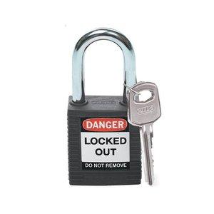 Brady Nylon veiligheidshangslot zwart 051353