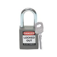 Nylon safety padlock grey 814113