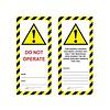 Veiligheidstag gelamineerd karton UIO-SFTAG