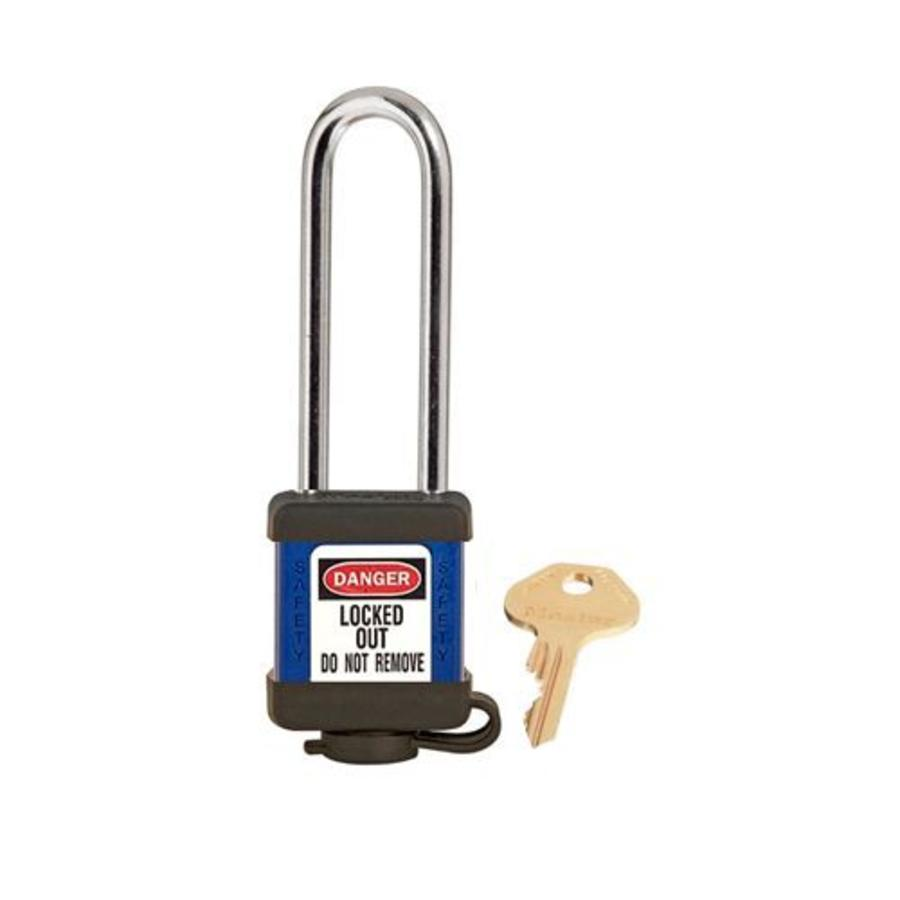 Zenex Sicherheits-vorhängeschloss blau 410LTBLU