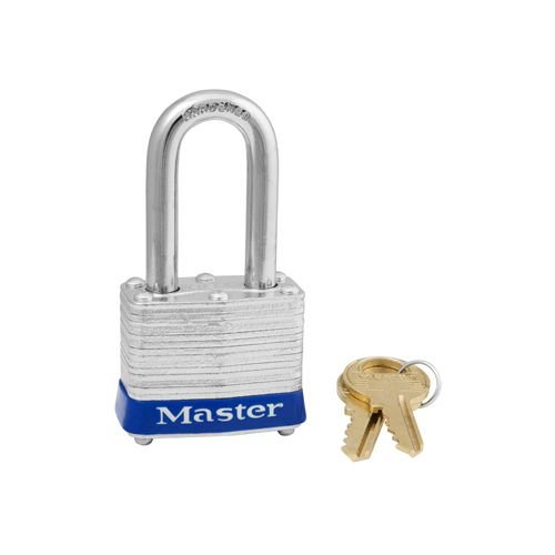 Laminated steel padlock blue 3LFLBU