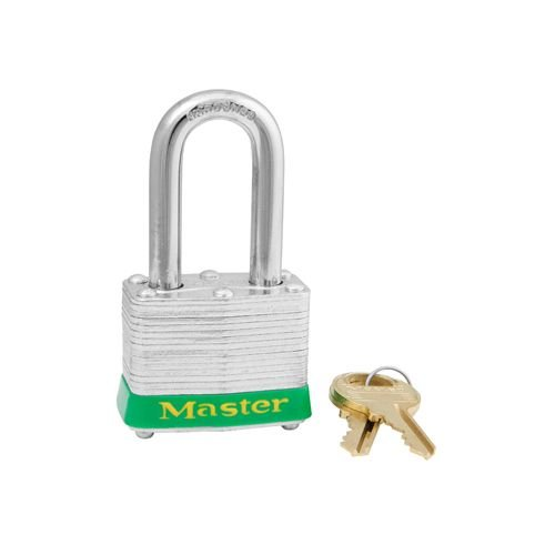 Laminated steel padlock green 3LFGRN