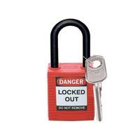 Nylon Sicherheits-vorhängeschloss rot 813594