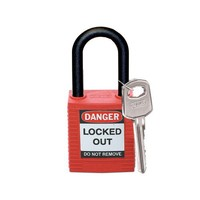 Nylon Sicherheitsschloss rot 813594