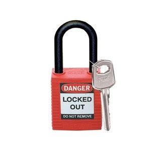 Brady Nylon safety padlock red 813594