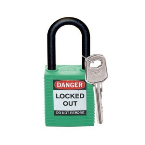 Brady Nylon safety padlock green 813597