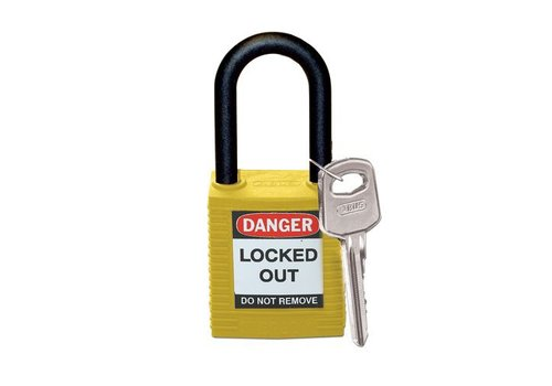 Nylon safety padlock yellow 813596
