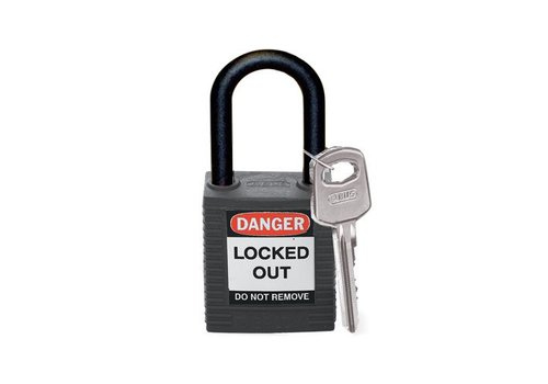 Nylon safety padlock black 813595