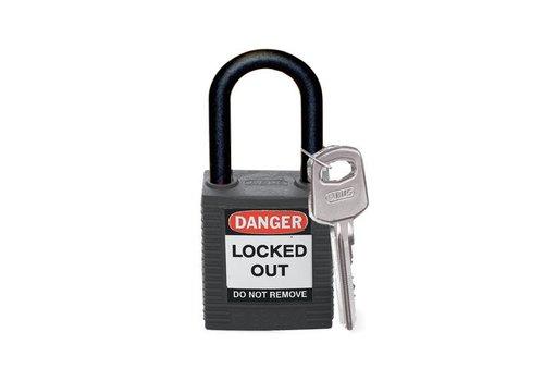 Nylon veiligheidshangslot zwart 813595