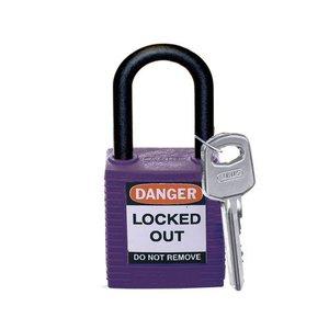 Brady Nylon Sicherheitsschloss lila 813640