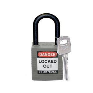 Brady Nylon veiligheidshangslot grijs 814154