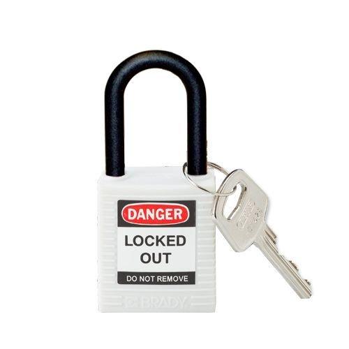 Nylon veiligheidshangslot wit 813641